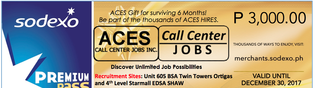 Customer Care Coordinators from ACES Call Center Jobs Inc.