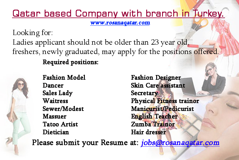 Rosana Fashion And Beauty From Qatar Is Looking For A Sales Staff