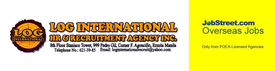 Latest Job Openings from LOG INTERNATIONAL HR & RECRUITMENT