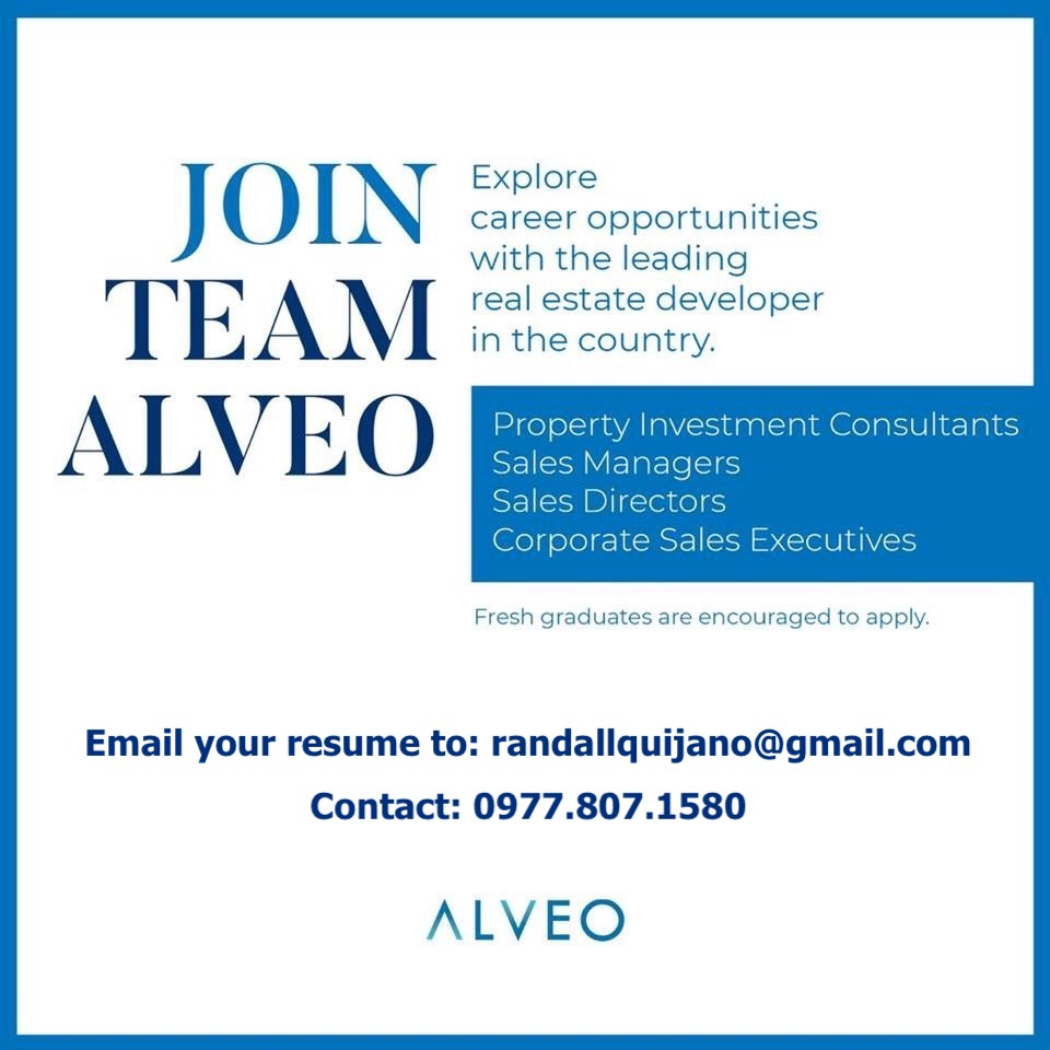 Property Investment Consultant from Alveo Land Corp.