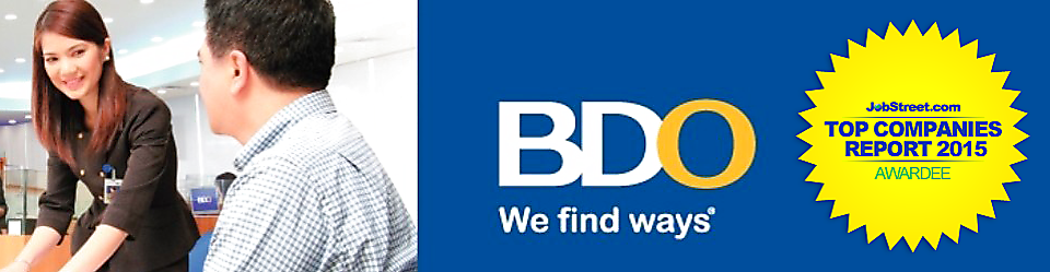 Client Service Associate - Tuguegarao Area (NL) from BDO Unibank, Inc