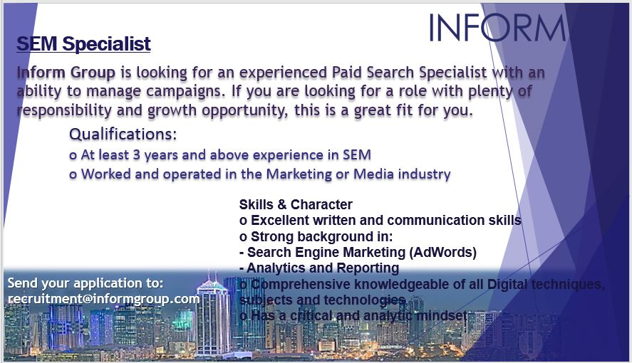 SEM / Google AdWords PPC Expert $$$ from Inform Group Manila