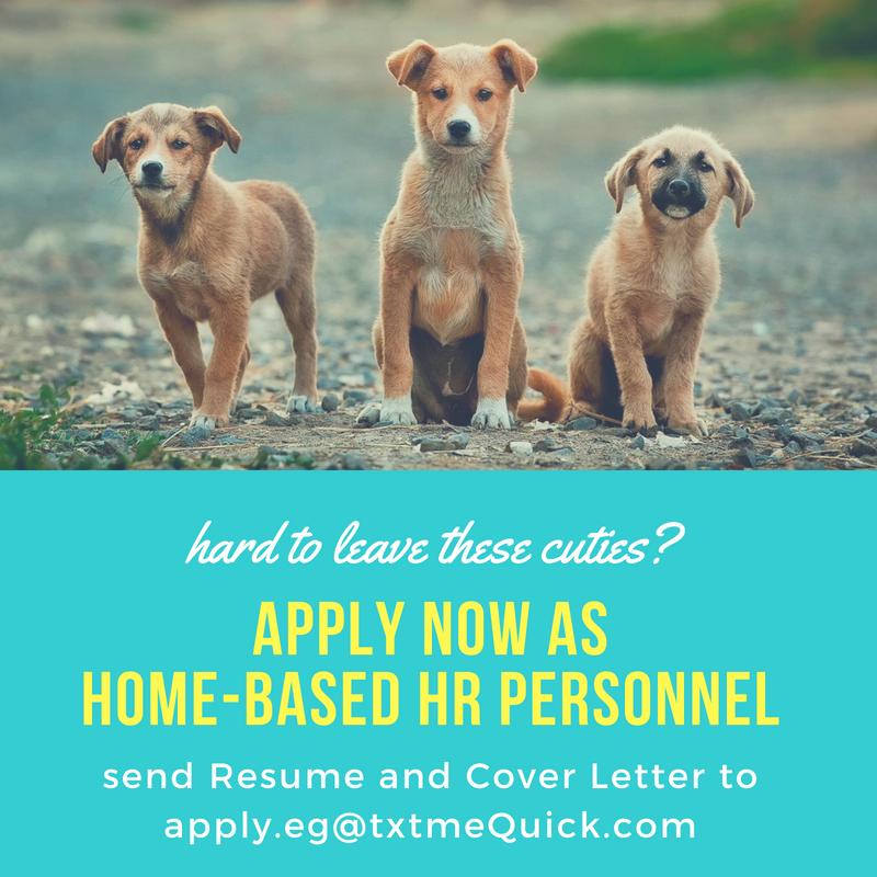 Home-based Hr Personnel from txtmequick