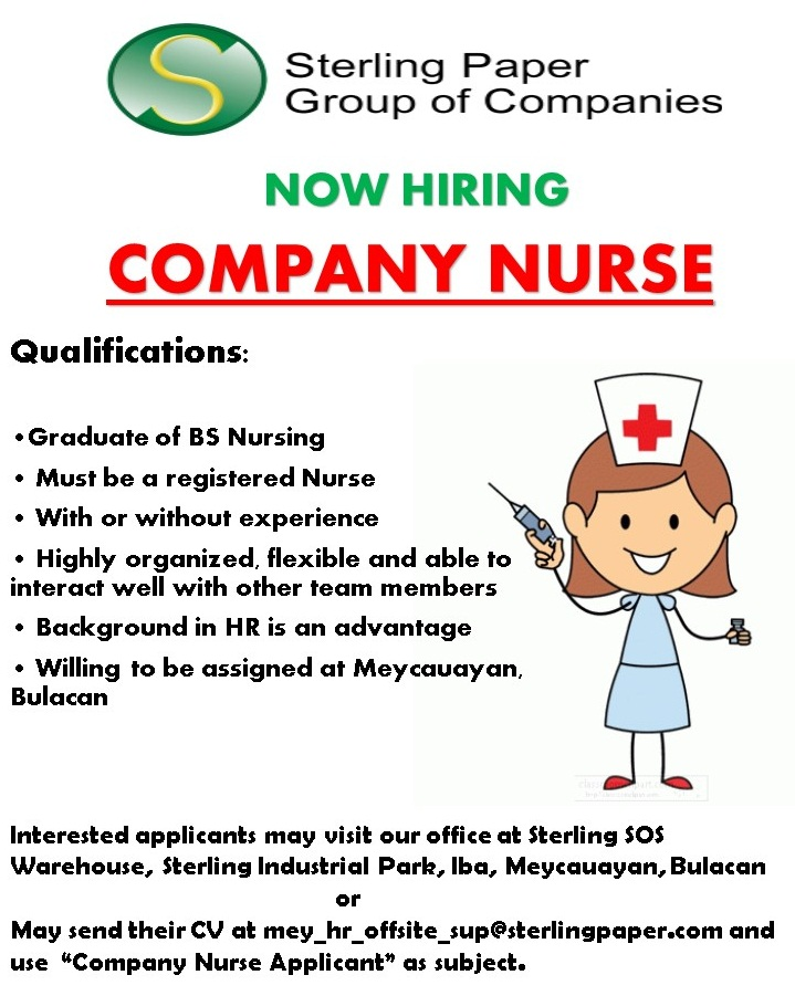 Company Nurse from Sterling Paper Group of Companies