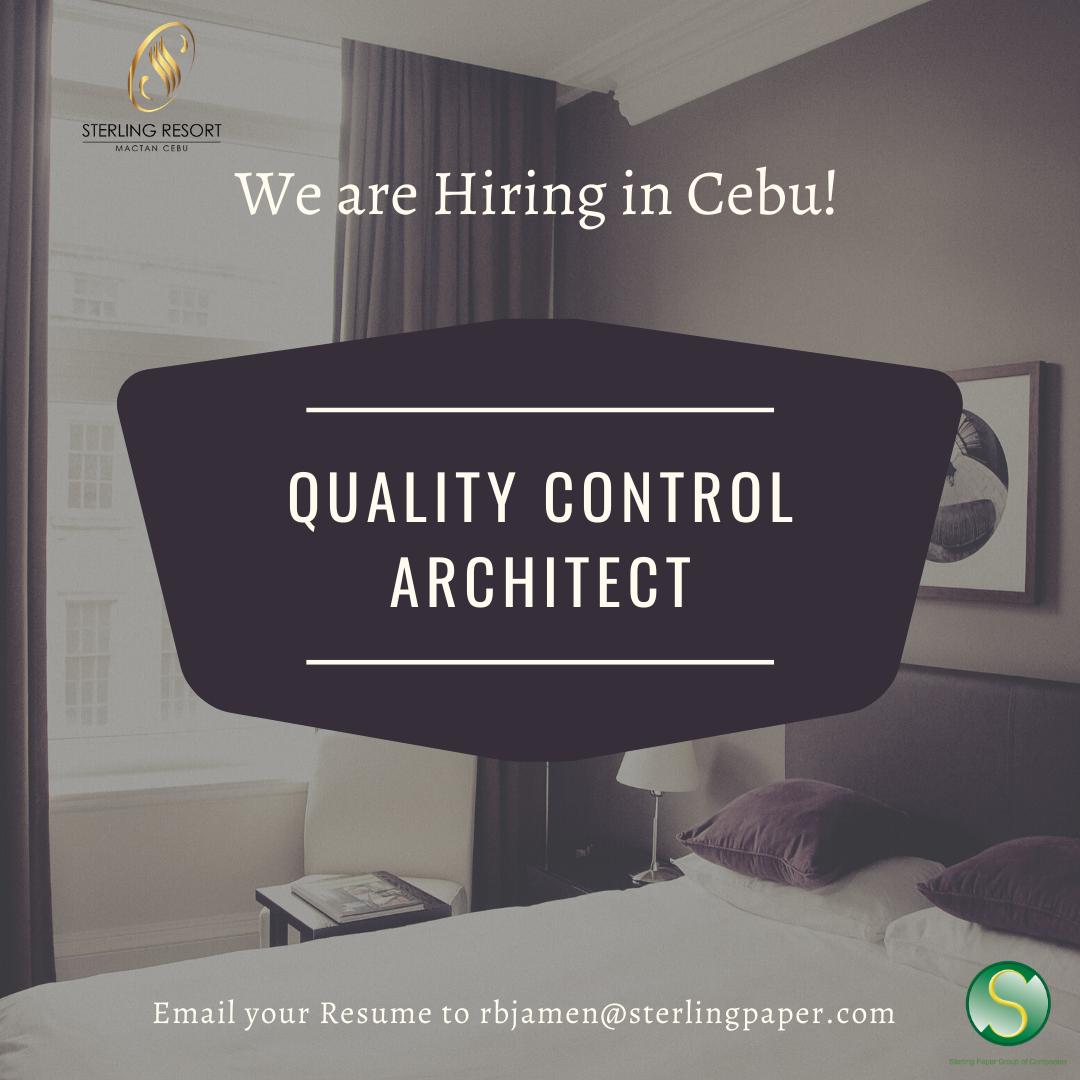 Quality Control Architect ( Cebu Based ) from Sterling Paper Group of Companies