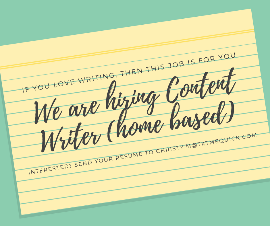 Home Based Content Writer. No Experience Required! from TxtmeQuick PH