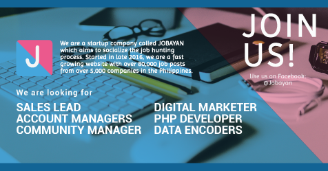 Sales Lead, Account Manager, Community Manager, Digital Marketer, Php Developer, Data Encoder from Jobayan