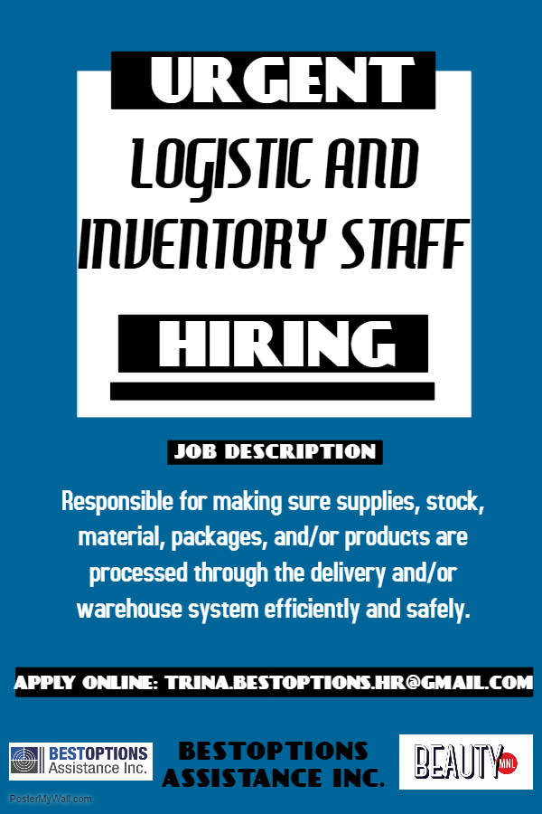 Inventory Staff from BESTOPTIONS ASSISTANCE INC.