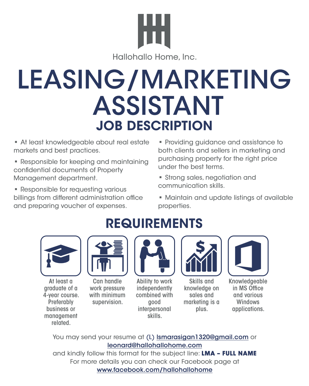 Leasing / Marketing Assistant from Hallohallo Home, Inc.