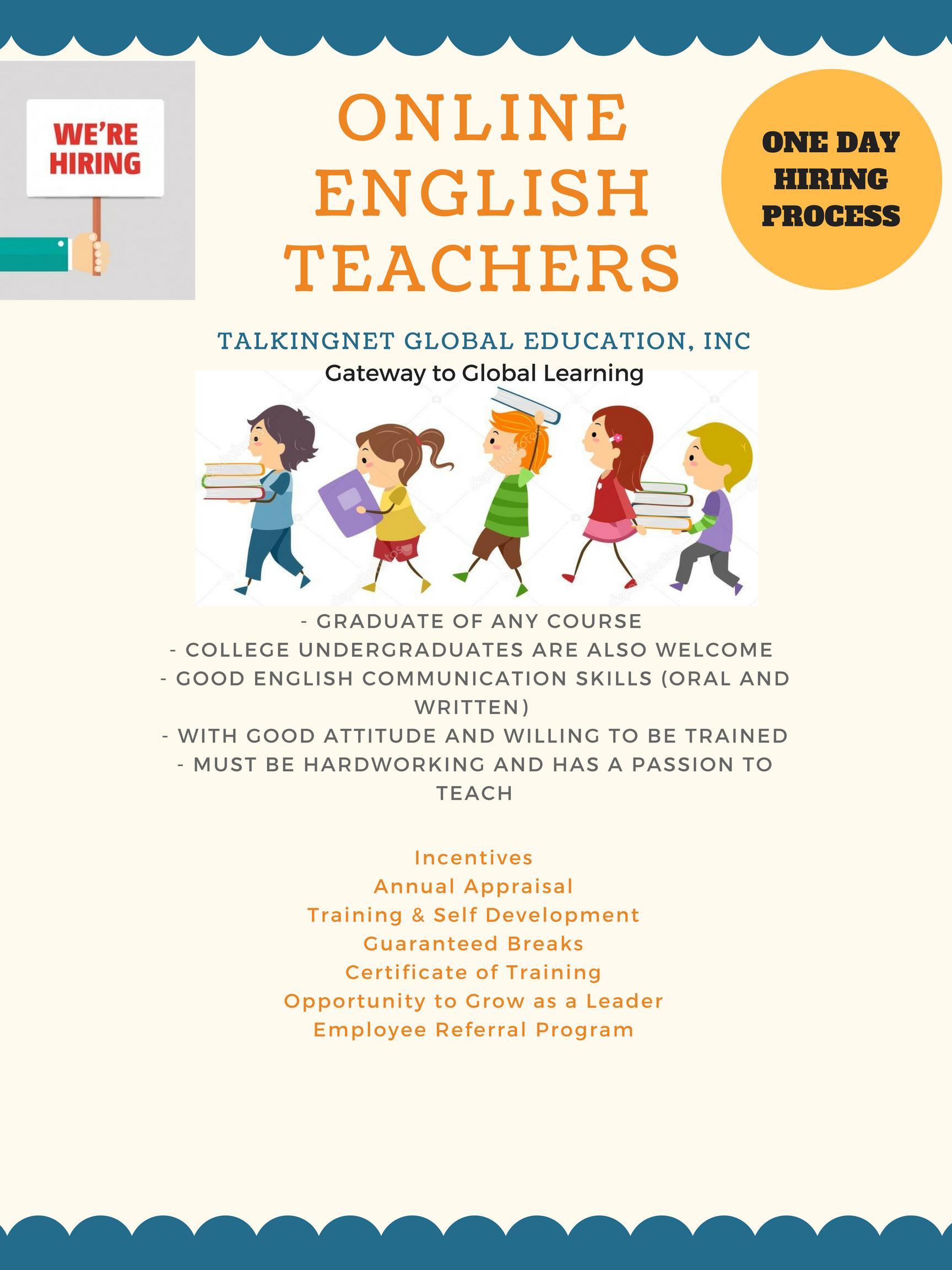 Esl Teacher from Talkingnet Global Education Inc.