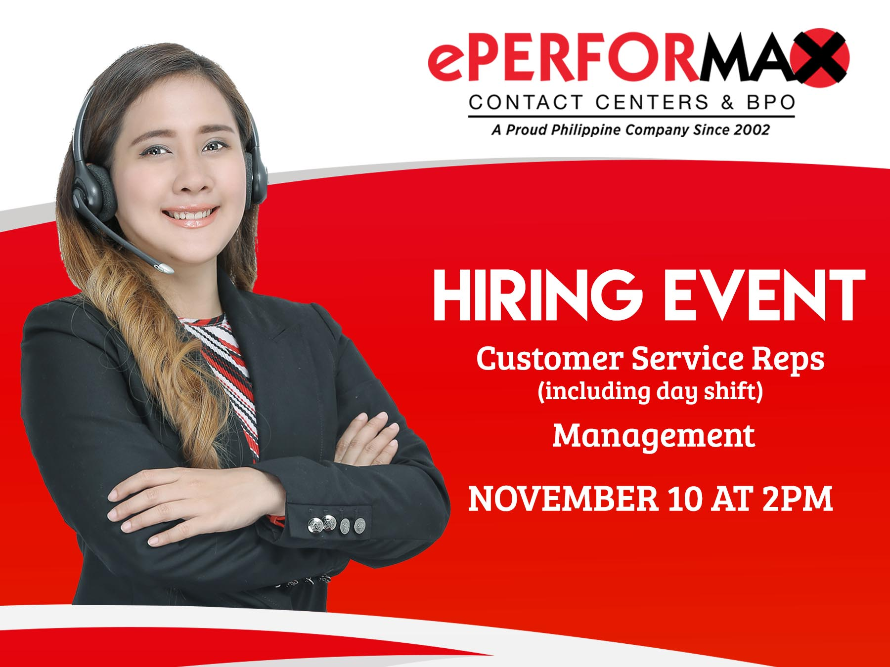 Call Center Agents from ePerformax Contact Centers & BPO
