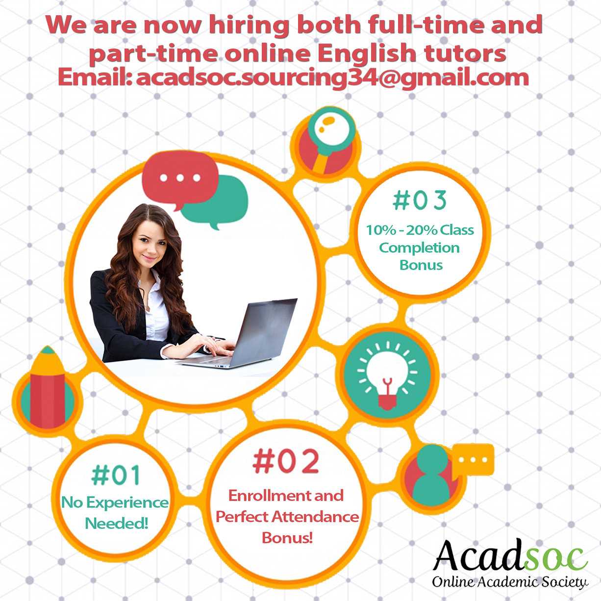 Online Esl Tutor (full-time Or Part-time) from Acadsoc Ltd.