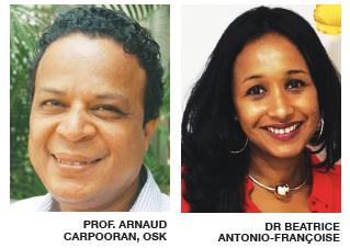 (Prof. ARNAUD CARPOORAN, OSK ek Dr BEATRICE ANTONIO-FRANÇOISE)