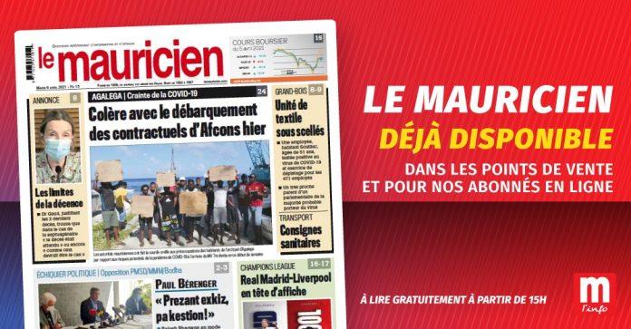 Le Mauricien du 06 Avril