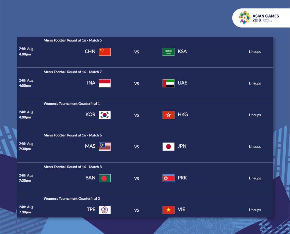 Image Ini Jadwal Asian Games  Cabang Sepak Bola