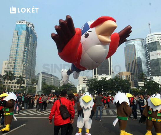 Maskot Asian Para Games 2018