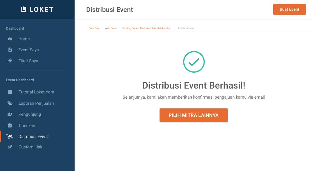 Event kamu siap untuk didistribusikan