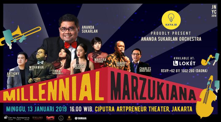 Jakarta New Years Concert 2019-Millennial Marzukiana and Ananda Sukarlan Orchestra