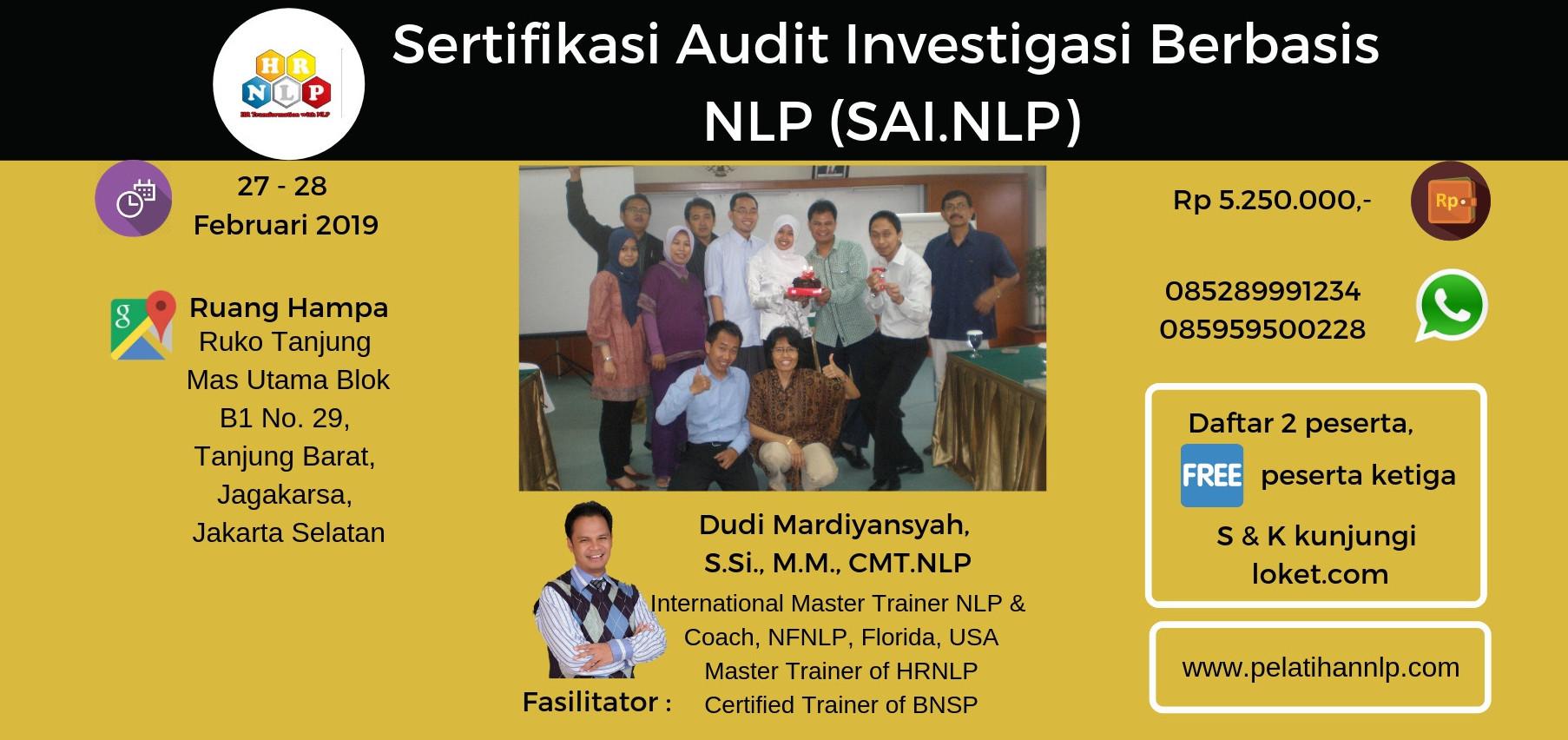 Jual Tiket Sertifikasi Audit Investigasi Berbasis Nlp Sai Nlp Loket Com