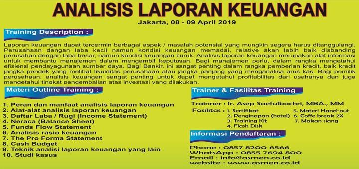 Jual Tiket Training Analisis Laporan Keuangan Loket Com