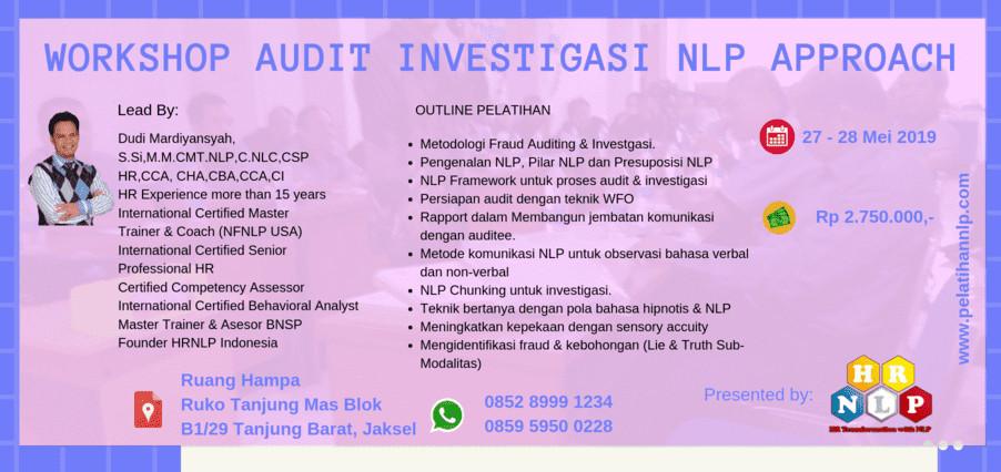 Jual Tiket Workshop Audit Investigasi Nlp Approach Loket Com