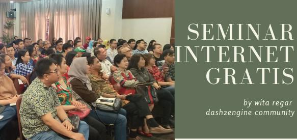 SEMINAR INTERNET GRATIS (Gratis 2-book jika datang ke seminar ini)