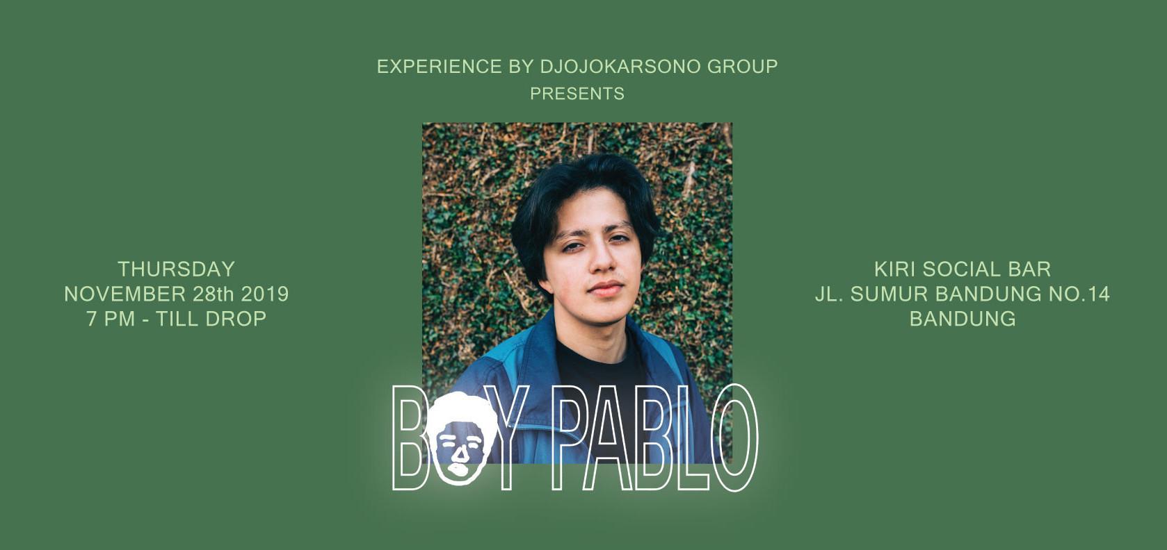 Djojokarsono Group presents : BOY PABLO LIVE