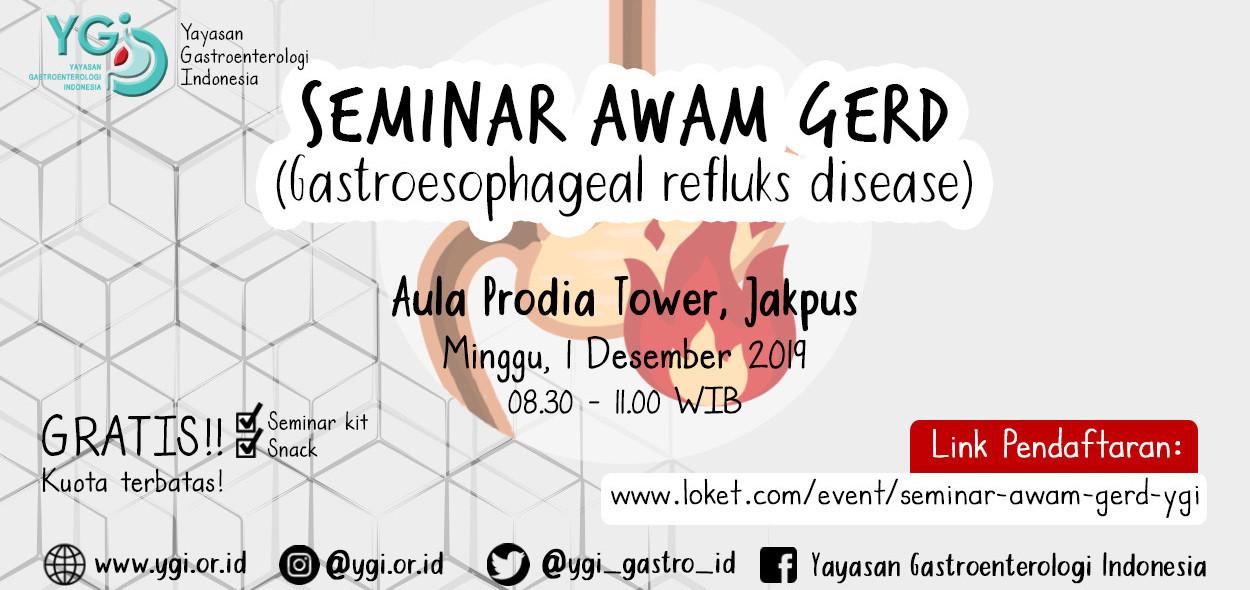 Seminar Awam Gastroesophageal Reflux Disease