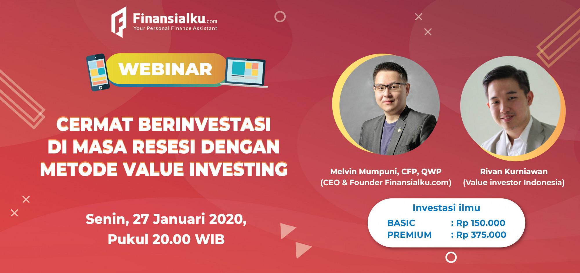 Webinar Saham Finansialku: Cermat Berinvestasi di Masa Resesi dengan Metode Value Investing