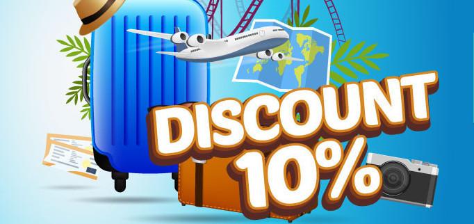 Voucher Diskon 10% Untuk Beli Tiket Pesawat Murah