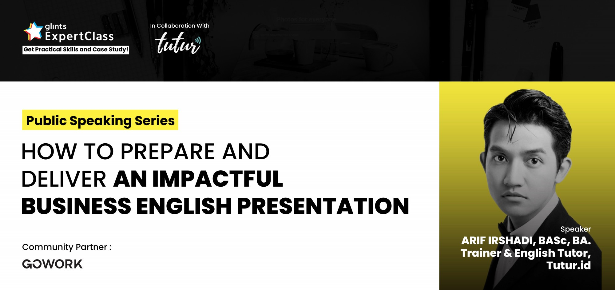 poster glints business english presentation
