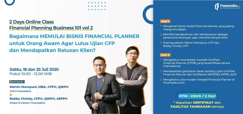 Jual Tiket 2 Hari Webinar Finansialku Bagaimana Memulai Bisnis Financial Planner Dan Mendapat Ratusan Klien Loket Com
