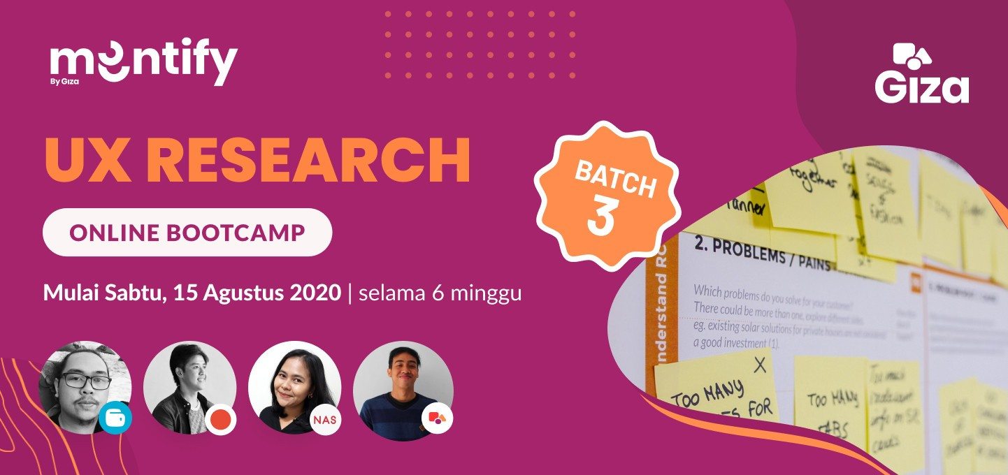 Mentify Batch #3: UX Research Online Bootcamp