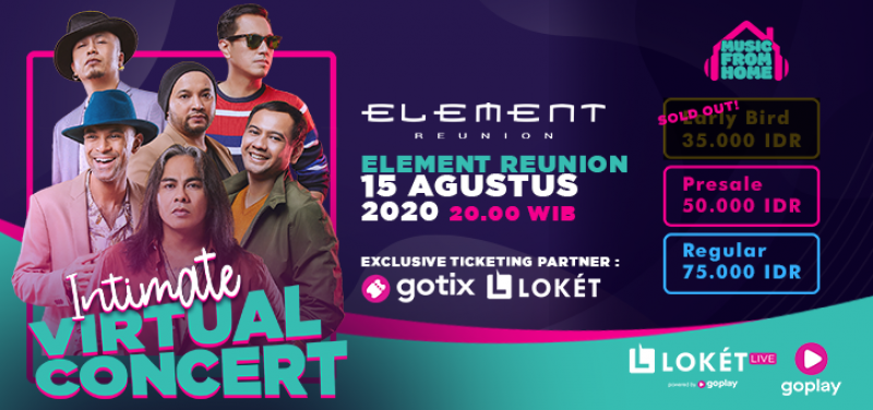 Element Reunion Intimate Virtual Concert