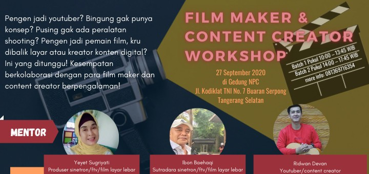 Film Maker & Content Creator Workshop