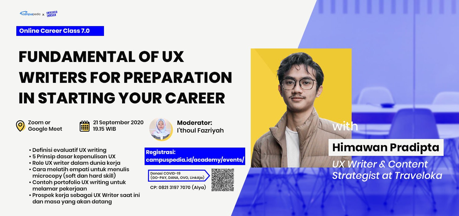 Fundamental Of UX Writers for Preparation in Starting Your Career