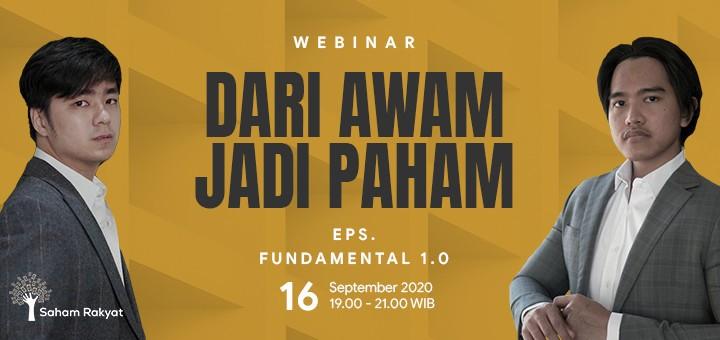 Webinar Saham Rakyat #DariAwamJadiPaham Eps. FUNDAMENTAL 1.0