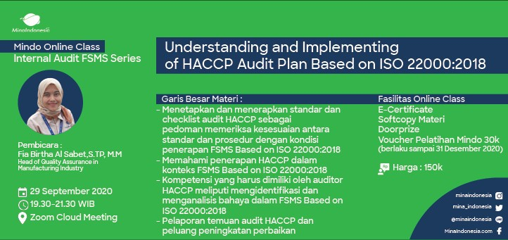 Internal Audit: Understanding and Implementing of HACCP Audit Plan Based On ISO 22000:2018