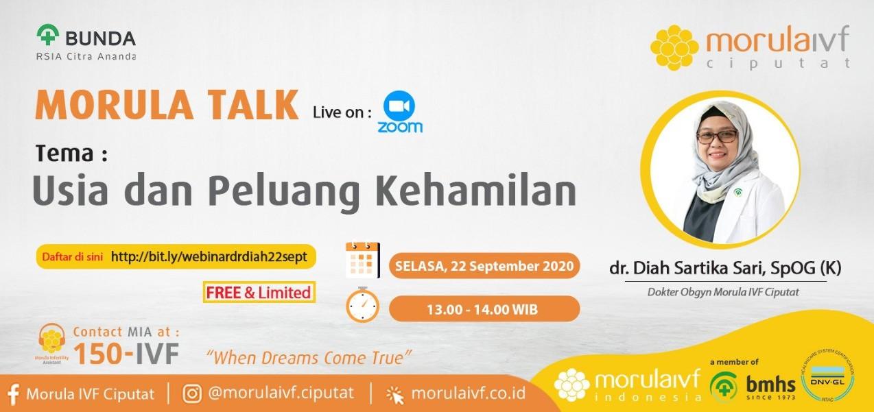 Morula Talk Bersama dr. Diah Sartika, SpOG (K)