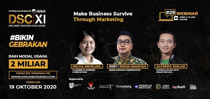 Webinar DSC XI #29 Make Business Survive Through Marketing