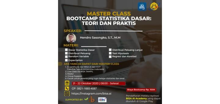 Bootcamp Statistika Dasar: Teori Dan Praktis
