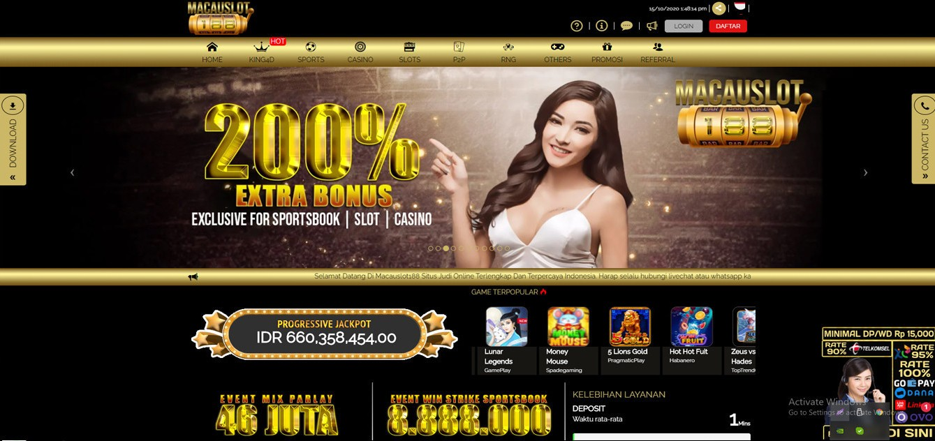 Jual Tiket Macauslot188 Agen Judi Slot Online Terpercaya Loket Com