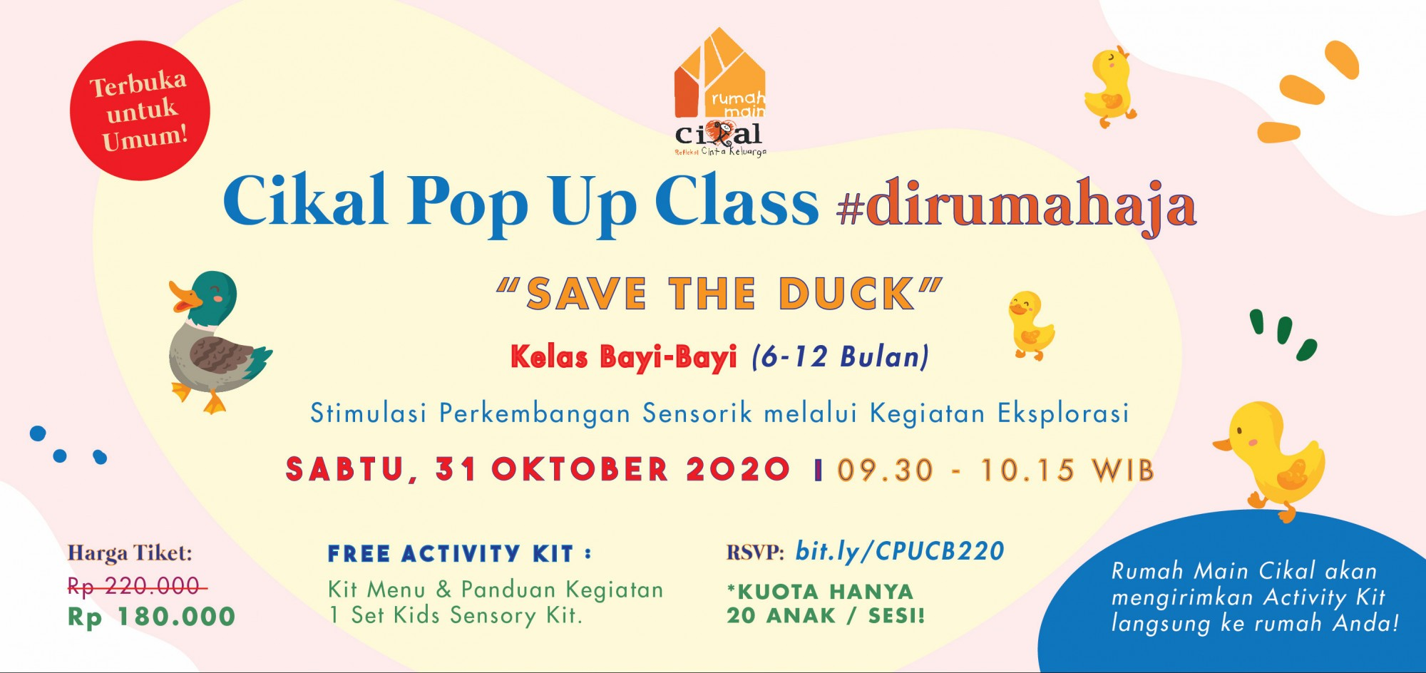 Cikal Pop Up Class #dirumahaja Kelas Bayi 31 Oktober 2020