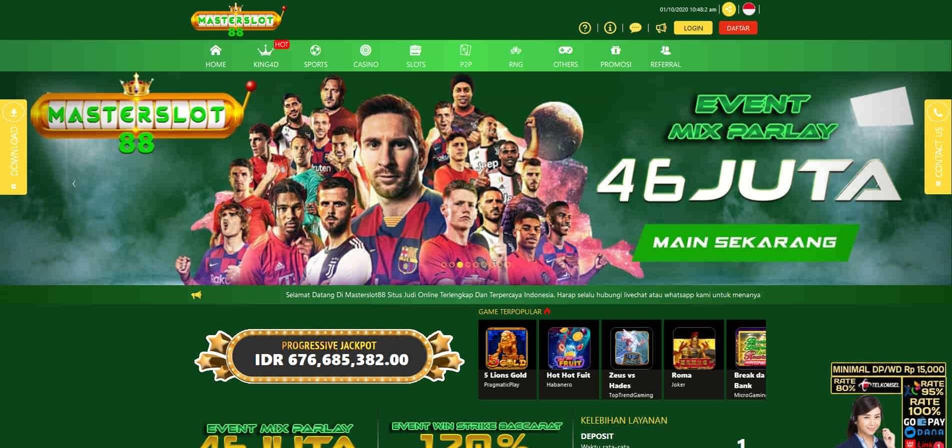 Jual Tiket Masterslot88 Situs Judi Slot Online Cq9 Gaming Loket Com