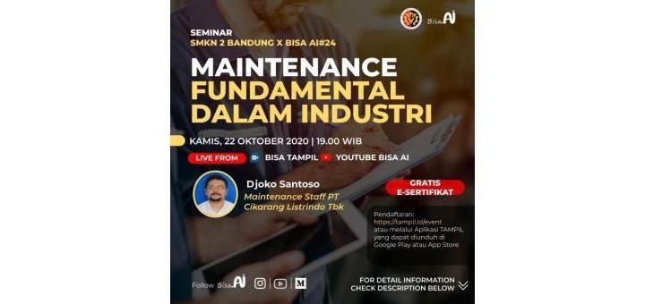 Maintenance Fundamental Dalam Industri
