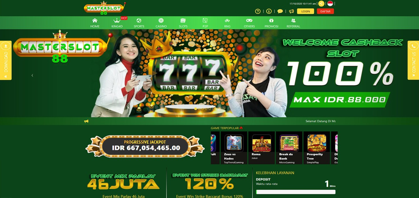 Jual Tiket Masterslot88 Jackpot Slot Online Menang Banyak Loket Com
