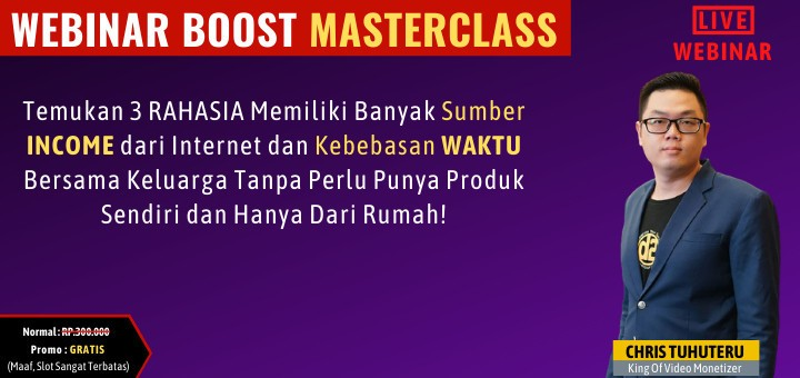 Webinar Boost Masterclass