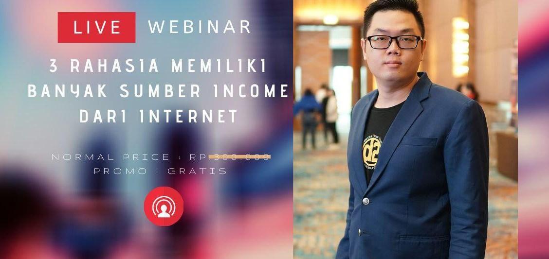 Webinar (GRATIS) Rahasia bisa punya banyak Sumber Income