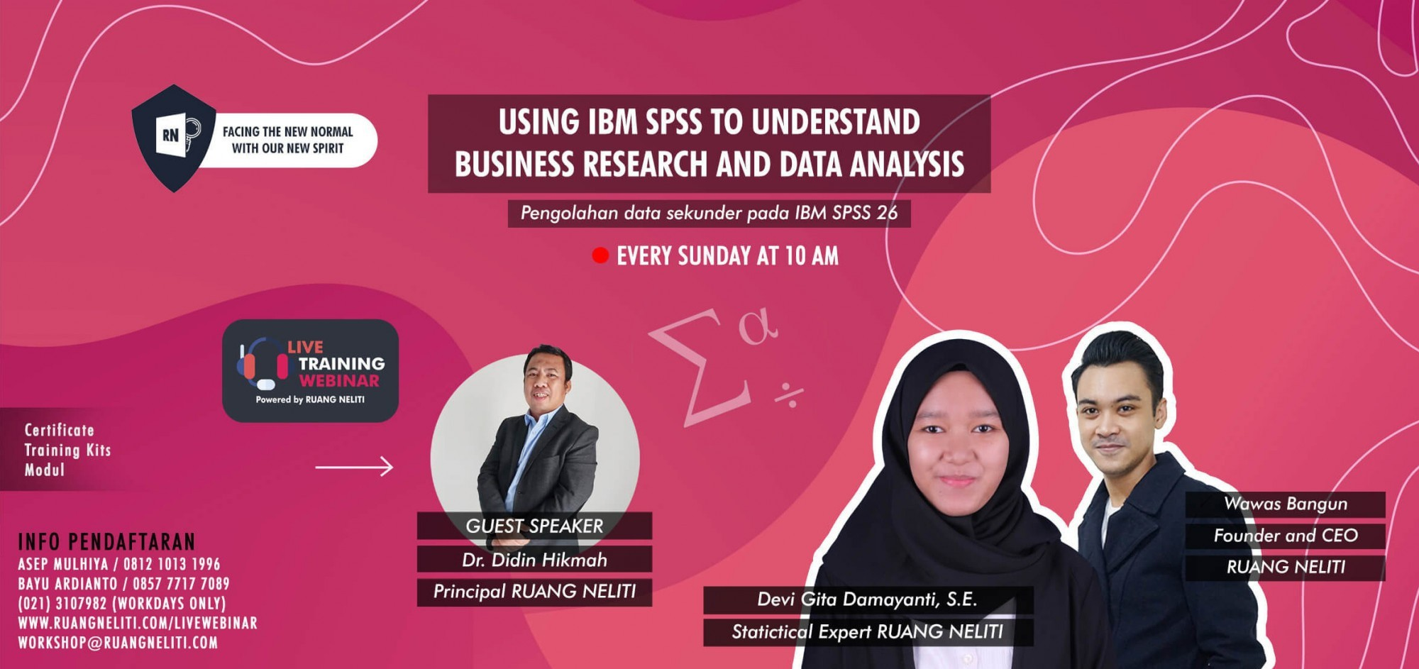 LIVE WEBINAR : USING IBM SPSS TO UNDERSTAND BUSINESS RESEARCH AND DATA ANALYSIS (DATA SEKUNDER)