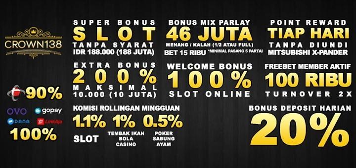 Jual Tiket Crown138 Situs Slot Online Deposit Pulsa Tanpa Potongan Loket Com